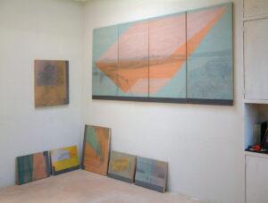 Nieuw werk in atelier